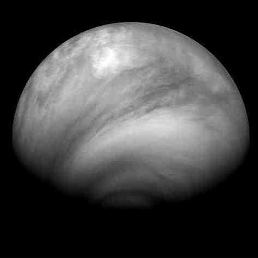 Imagen de la atmósfera venusiana, tomada por Venus Express.- ESA / MPS / DLR / IDA