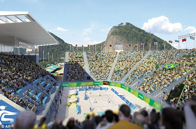 Espectacular: El Estadio de Copacabana, que será el anfitrión de una serie de competiciones de los deportes de equipo