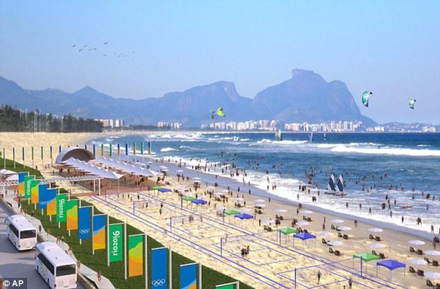 Un ejemplo de cómo se verá la playa Olímpica.